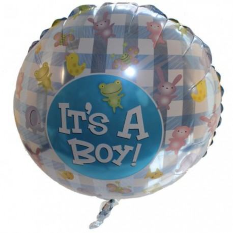 Balloon Baby Boy. only available with flowers